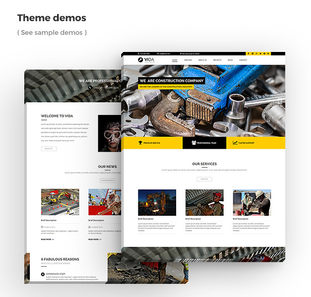 Vida - Multipurpose Muse Template - 8