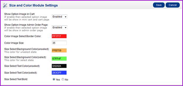 OpenCart Ürün Renk ve Boyut Varyasyon - 15