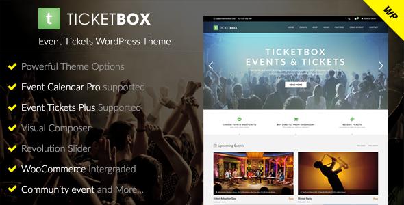 TicketBox – Event Tickets WordPress Theme
