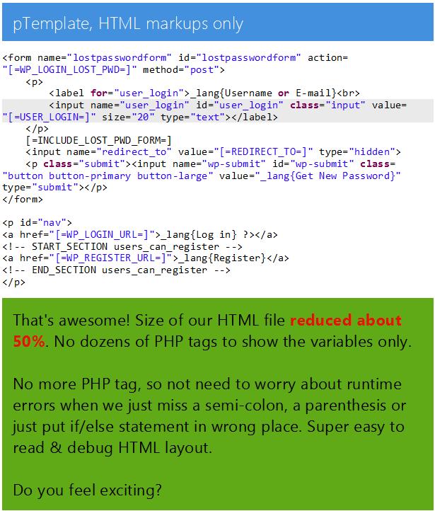 pTemplate: Daha İyi PHP Kod HTML Tasarım Ayrı - 10