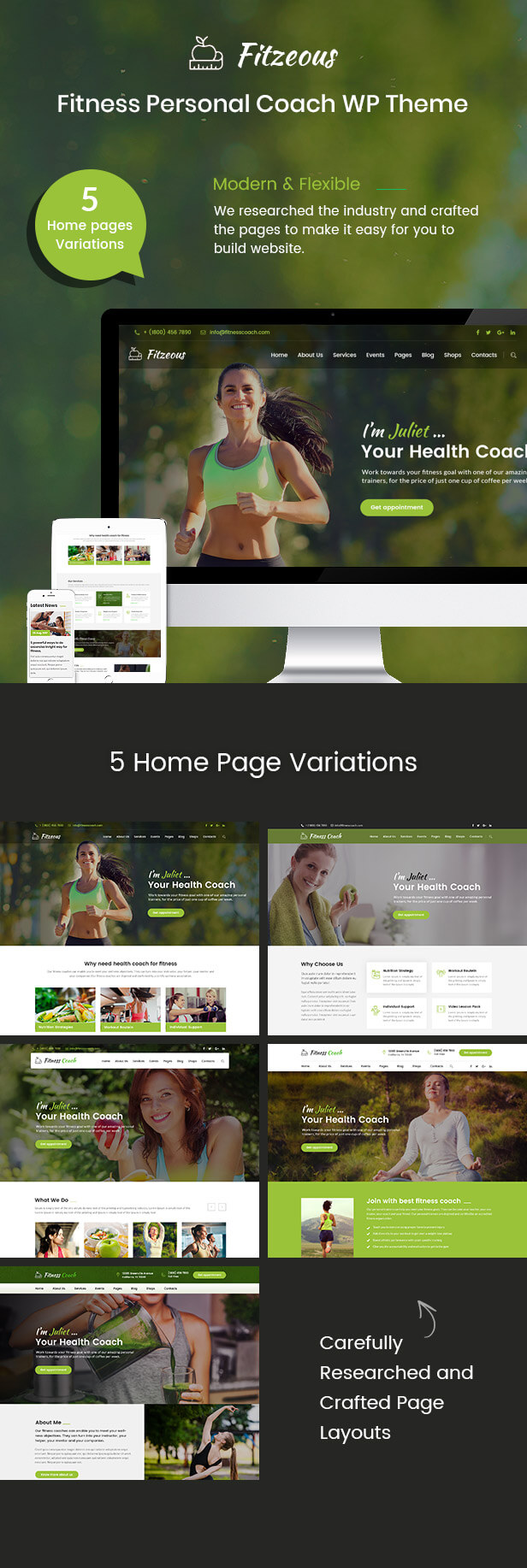 Fitzeous - Personal Fitness Trainer WordPress Theme - 2