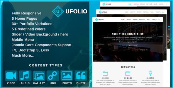Ufolio - Multipurpose & Portfolio Joomla Template - Portfolio Creative