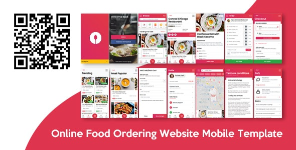 Swiggi - Online Food Ordering Website Mobile Template - Mobile Site Templates