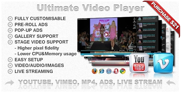 Ultimate Video Player with YouTube, Vimeo, HTML5, Ads - 15