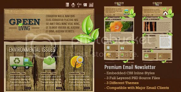 Green Living Environment HTML Email Template