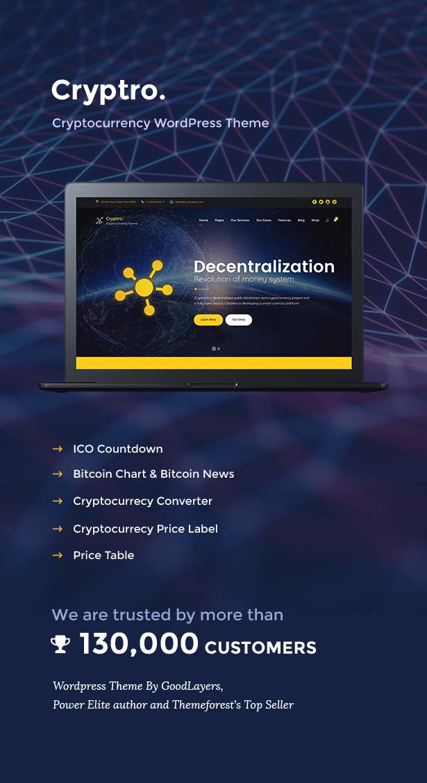 Cryptro - Cryptocurrency, Blockchain , Bitcoin & Financial Technology WordPress Theme - 3
