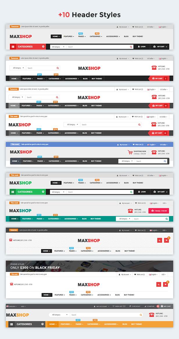 MaxShop - Fully Responsive