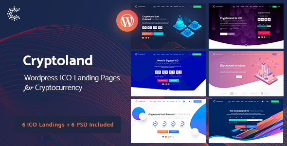 Cryptoland - WordPress ICO Landing Pages Cryptocurrency Theme Pack - Software Technology
