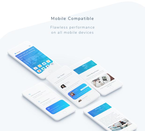 Beapp - Mobile App Development Agency HTML5 Template + RTL Support - 3