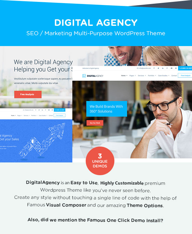 Digital Agency - SEO / Marketing WordPress Theme - 2