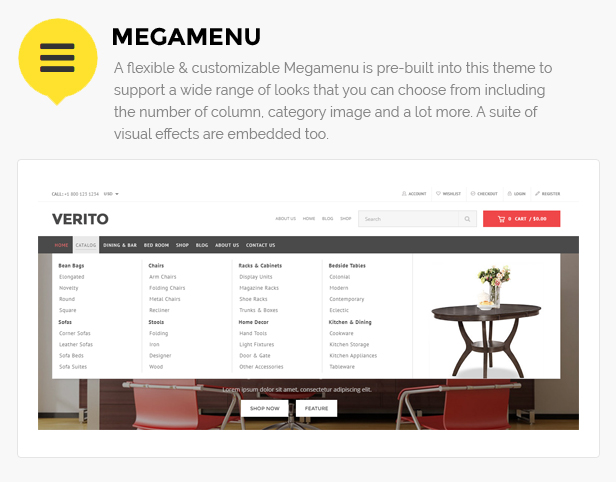 furniture store website shopify