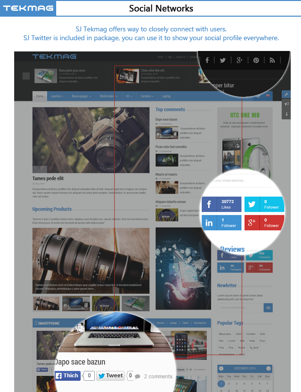 SJ Tekmag - Social networks