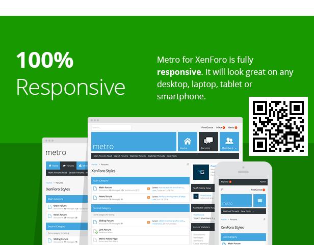 Metro — XenForo Responsive & Retina Ready Theme - 1