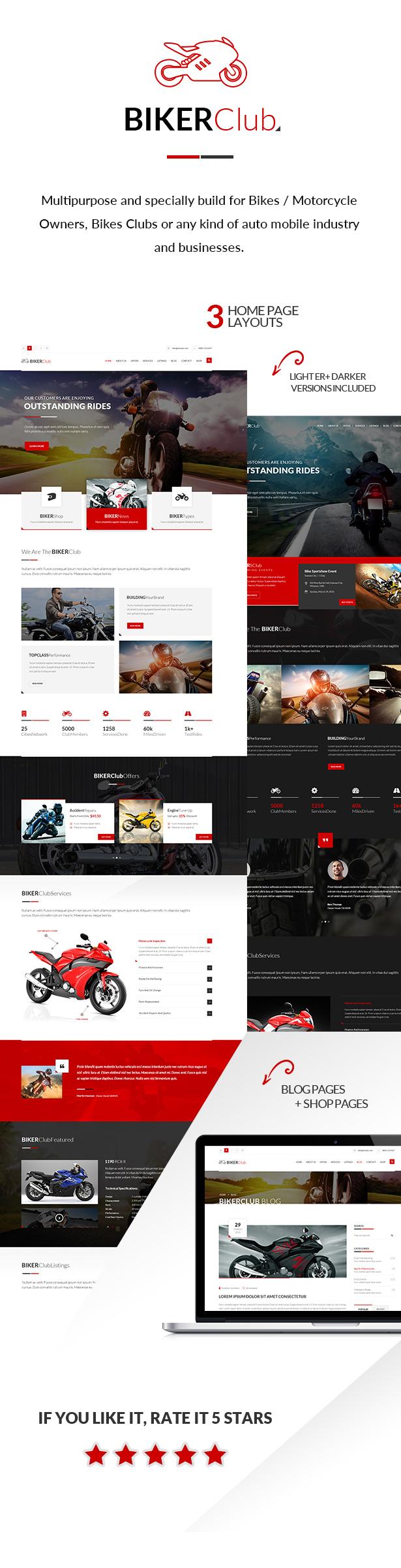 Biker Club - WordPress theme by venbradshaw | ThemeForest