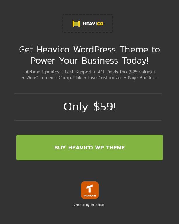 Buy Heavico - Construction, Building & Industrial WordPress Theme