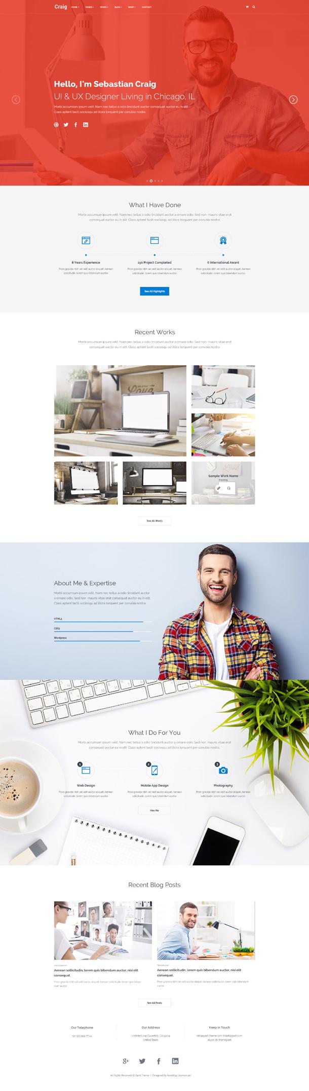 Craig - Creative Services   Portfolio   Personal Landing Page - 1