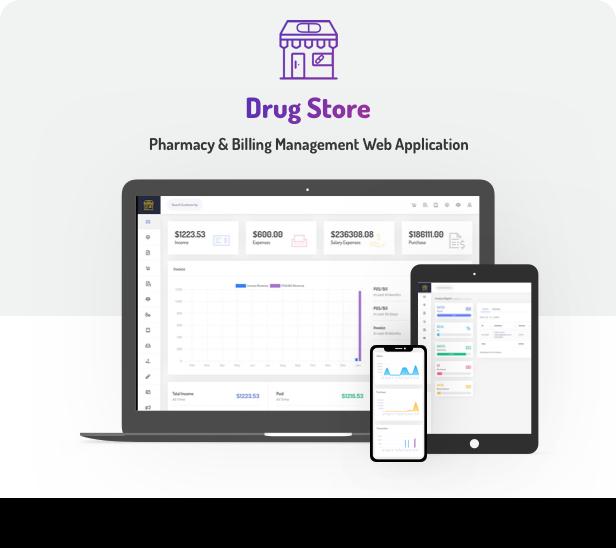 Drug Store Pharmacy Management Web Application