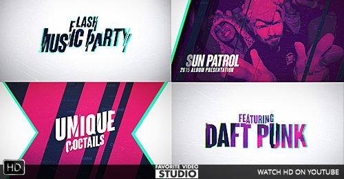 Flash Music Event AE Template