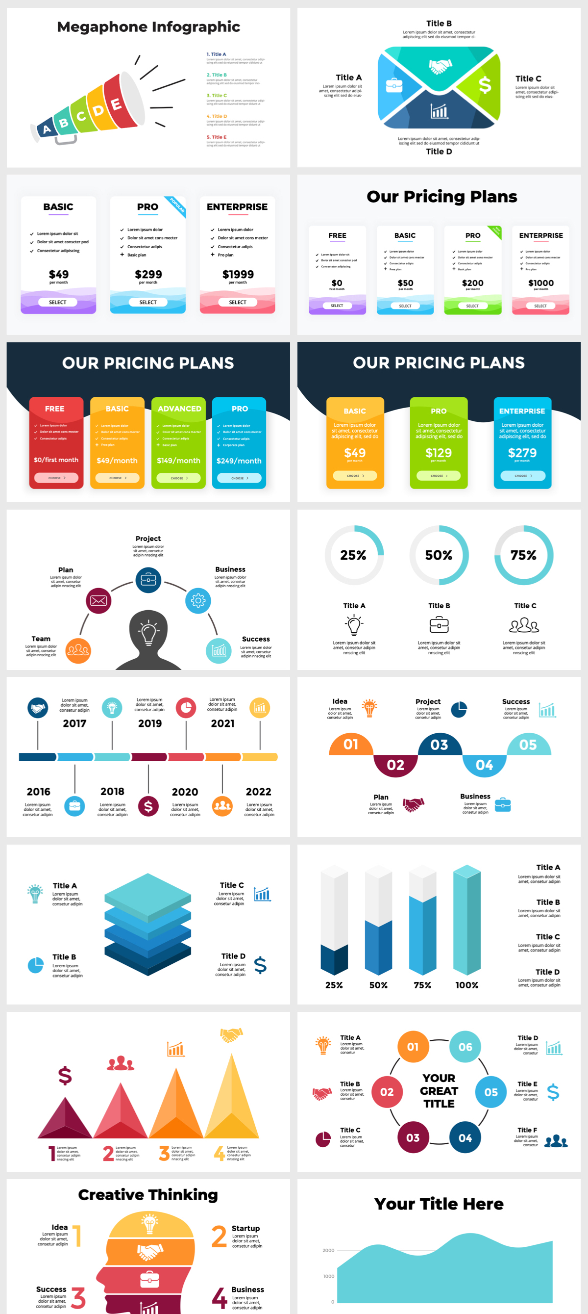 Huge Infographics Bundle! Lifetime Updates! PowerPoint, Photoshop, Illustrator. - 90