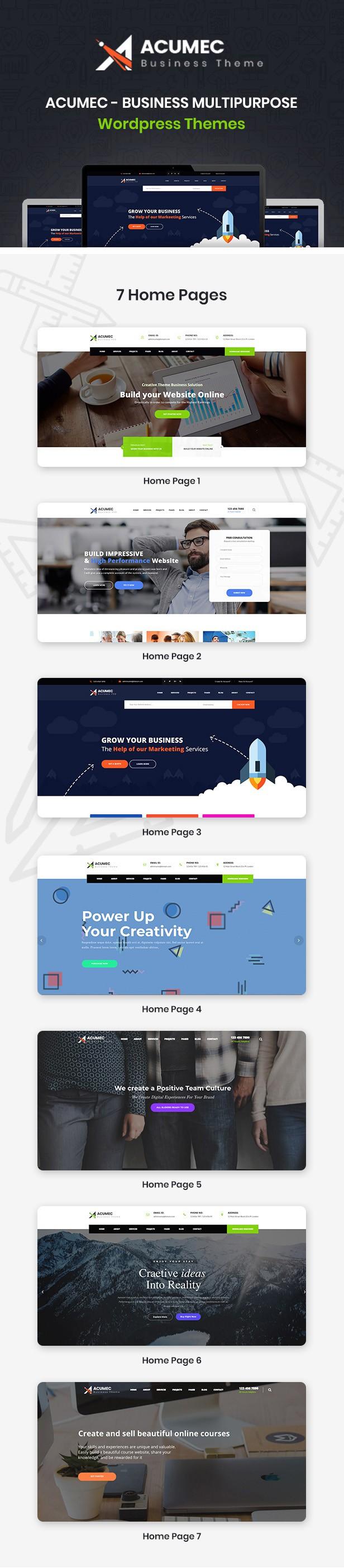 Acumec - Business Multipurpose WordPress Theme - 10