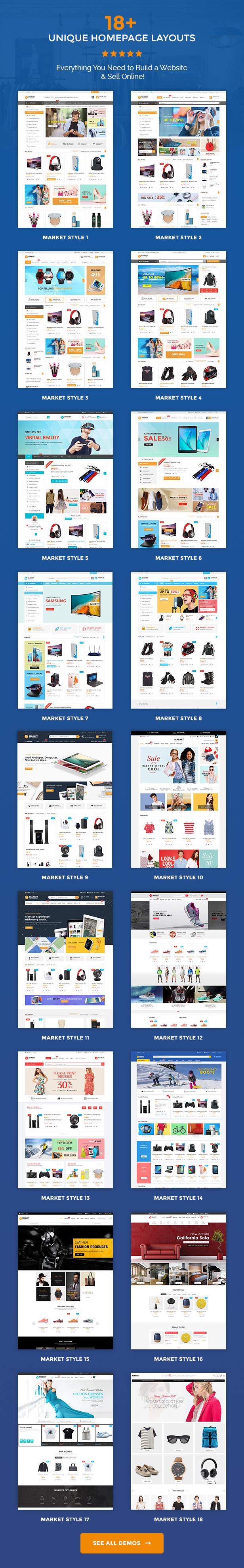 Market - Premium Responsive Magento 2 & 1.9 Store Theme - homepage