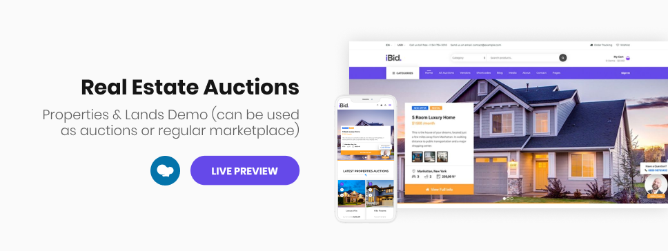 iBid - Multi Vendor Auctions WooCommerce Theme - 7