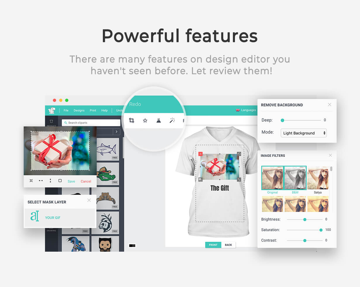 Product Designer for WooCommerce WordPress | LUMISE.COM - 17