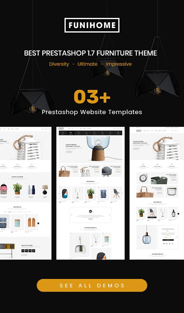 FuniHome - Responsive PrestaShop 1.7 Furniture Shop Theme - 1
