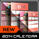 Stamp Greeting Card with Calendar 2014 - 11