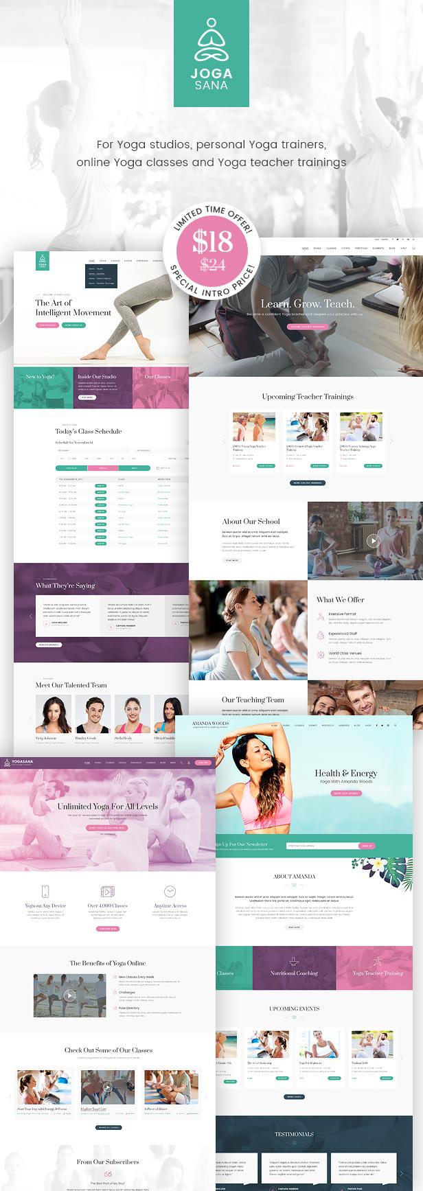 jogasana yoga oriented website template by monkeysan themeforest