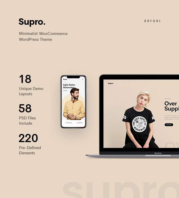 Supro - Minimalist AJAX WooCommerce WordPress Theme - 8