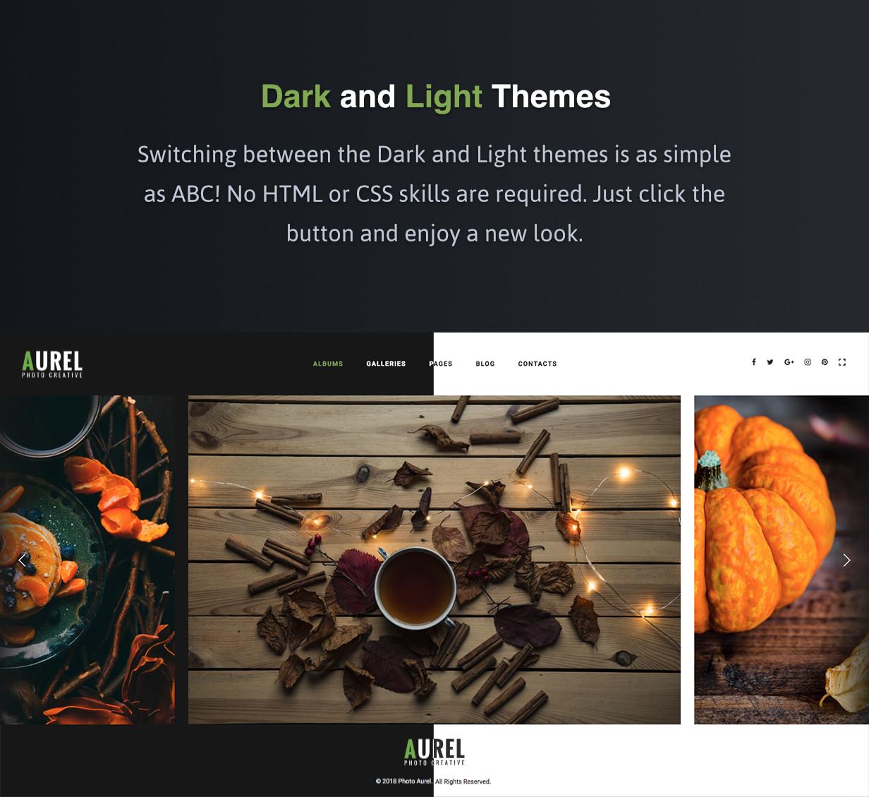 Dark and Light Themes