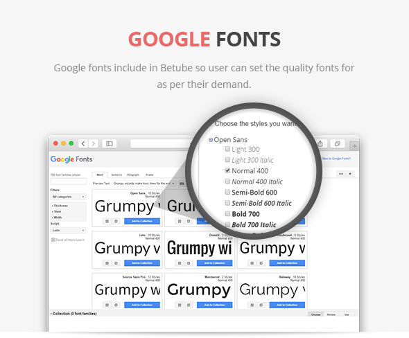 video theme with google fonts