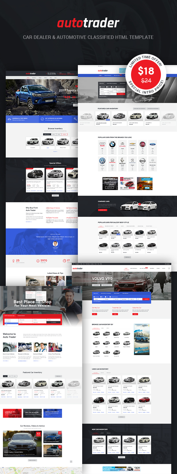 Autotrader is the best choice for car dealer dealership car listing template classified template and car rental template