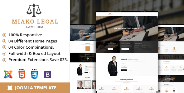 Miakolegal Joomla template