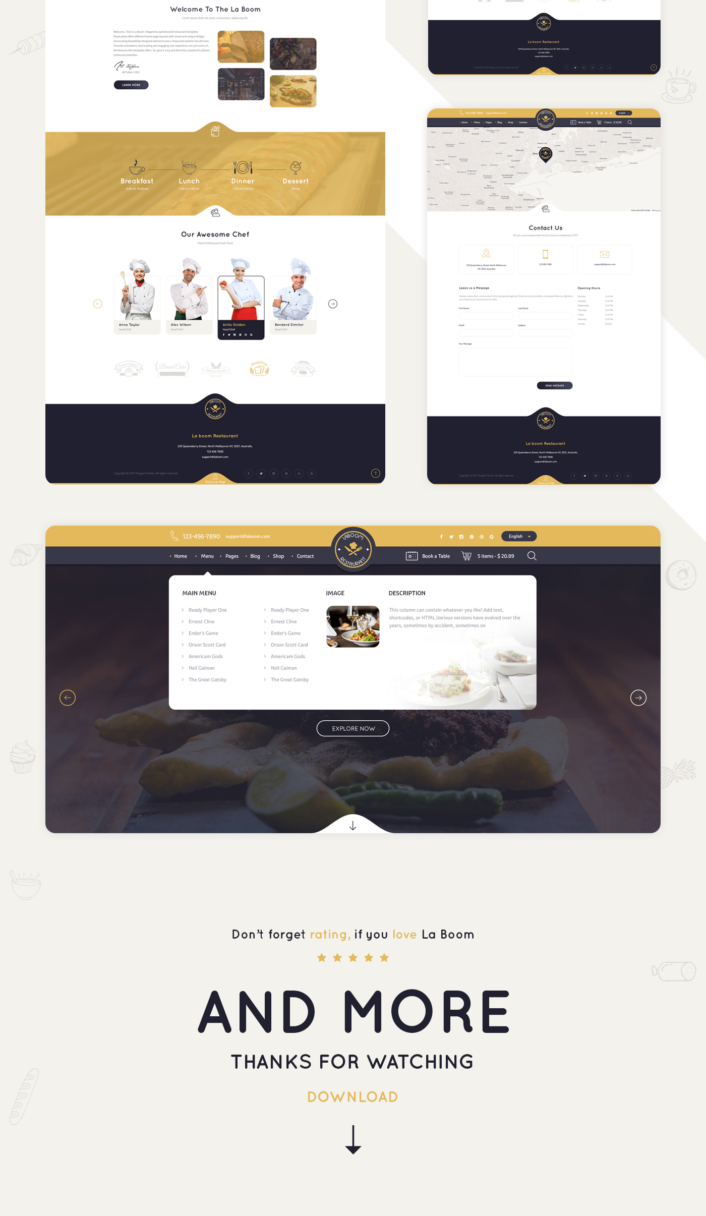 La Boom - Food & Restaurant Bistro WordPress Theme - 14