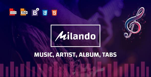 Milando - Music Portal HTML Template