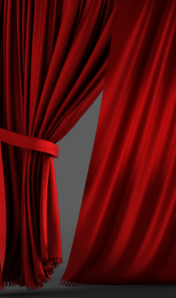 Very Realistic Hd Curtain Opening Closing