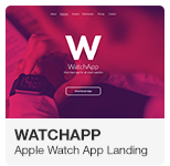 WatchApp Apple Watch App Promo Landing Adobe Muse Template