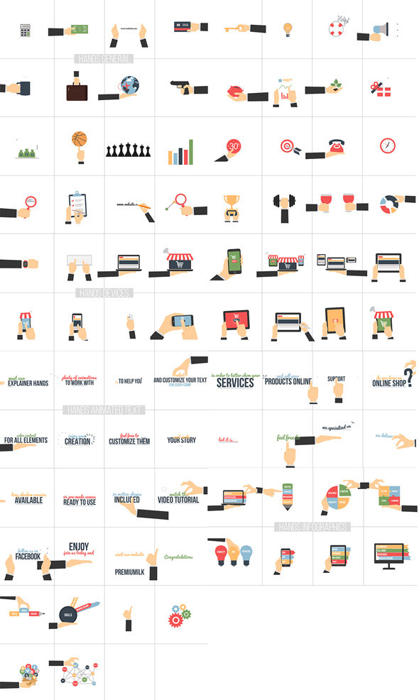 Flat Animated Icons Library - 17