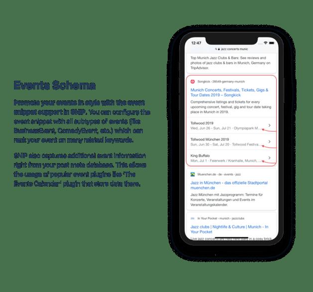 Events Schema example