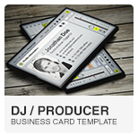 Ableton DJ Producer Business Card PSD template
