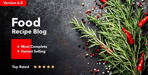 Food Recipes Blog Theme
