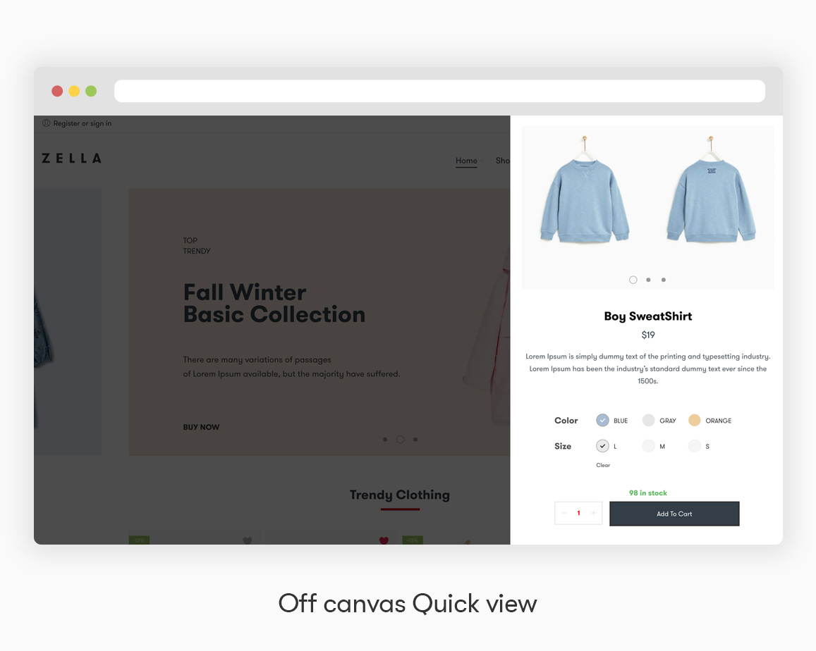 Zella - WooCommerce AJAX WordPress主题 - RTL支持 - 14