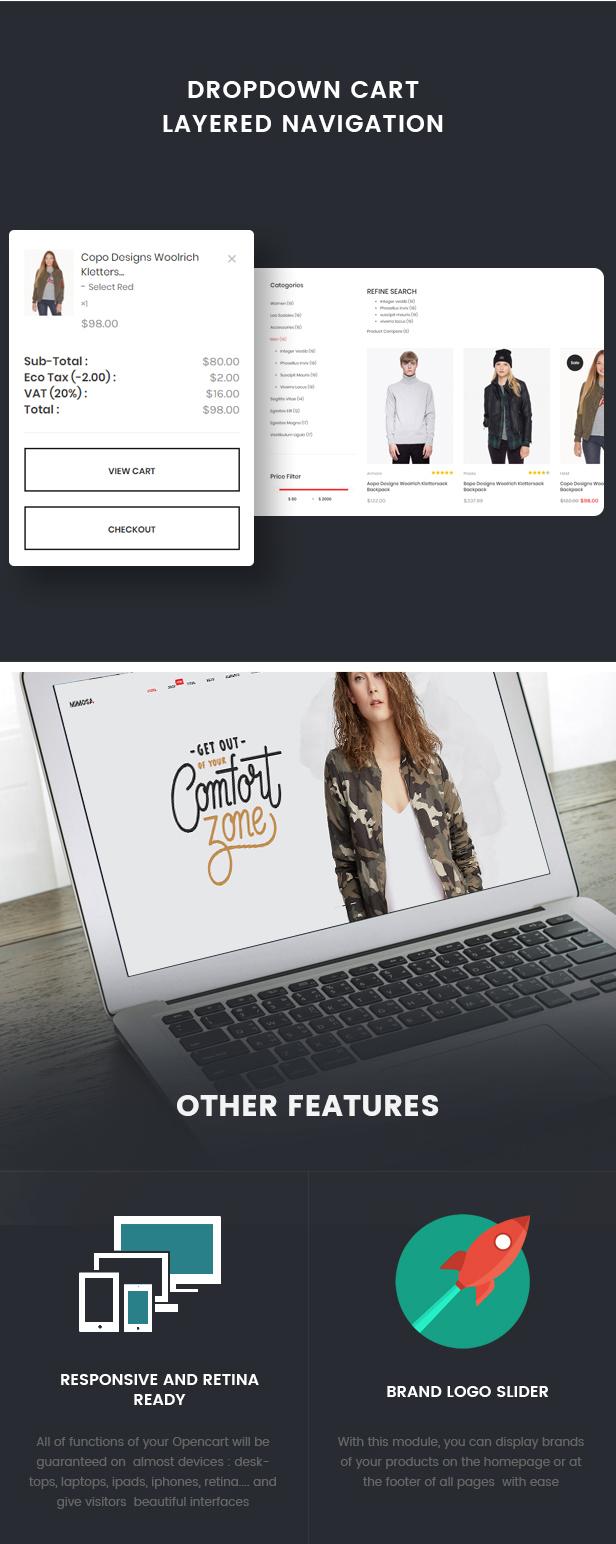 Mimosa - Responsive Fashion Opencart 3 Theme