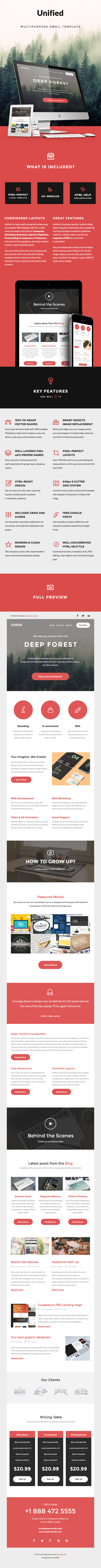 Unified - Multipurpose E-newsletter Template