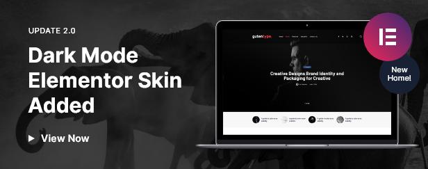 Elementor Darkmode Homepage