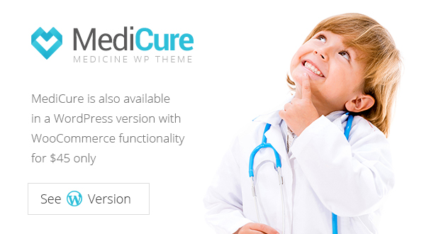 Medicure Wordpress theme banner
