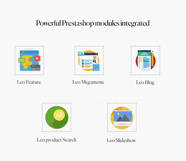 Powerful Prestashop modules integrated