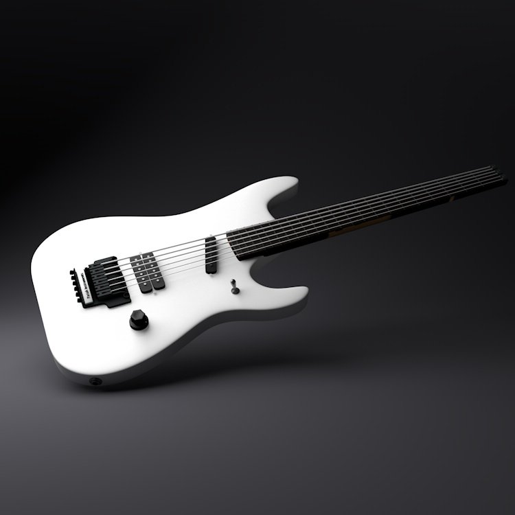 Electric Guitar Musical Instruments 3d model